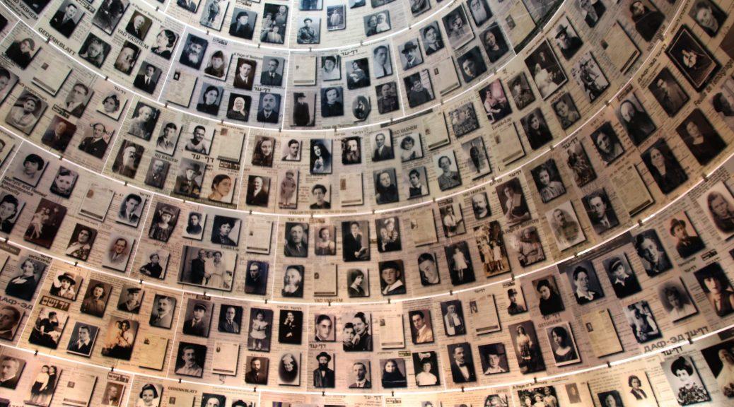 Photo of Yad Vashem Holocaust Memorial Photos of Victims courtesy: Gary Todd [License]